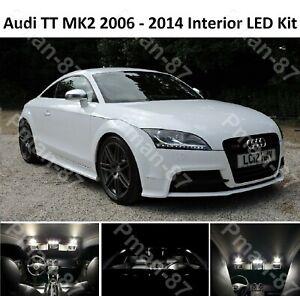 PREMIUM for Audi TT Mk2 8J interior LED Light Kit Upgrade White ERROR FREE NEW