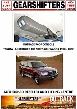 OUTBACK ACCESSORIES ROOF CONSOLES 4X4 TOYOTA LANDCRUISER 100 SERIES GXL 98 TO 02