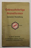 Orig. Prospekt Gebrauchsfertige Arzneiformen deutscher Herstellung um 1910 sf