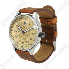 Vintage GERMAN LUFTWAFFE ME-109 PILOT WATCH with Brown Leather Strap Air Force