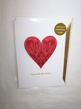 Hallmark Signature Valentine's Day Greeting Card; Signature Quilling Heart