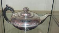 Fine Mathew Boulton Sheffield Silver Plated Armorial Crested Squat Teapot  1800