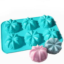 Mini Lily Crown Swirl Bundt Cake Bread Chocolate Baking Silicone Soap Mold