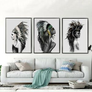 Indian Woman Prints Canvas Poster Art Picture Home Bedroom Wall Decor