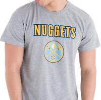New Era Denver Nuggets NBA LOGO SQUADRA MAGLIETTA GRIGIO MELANGE T-SHIRT  UOMO L cf0b90c11cfb