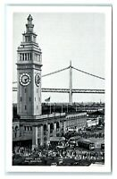 Postcard Ferry Building, San Francisco CA J14