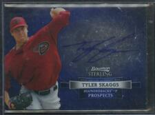 2012 Bowman Sterling TYLER SKAGGS Auto Autograph RC Rookie Card Prospect SP LAL