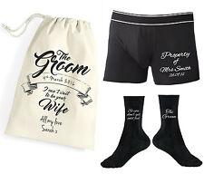 Personalised Property of Mrs Groom Boxer Shorts Socks Underwear Wedding Gift Bag