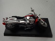 1/18 Maisto Atlas - Yamaha Road Star Diecast Motocicleta Moto + Soporte