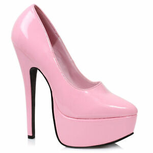 "Ellie 652-PRINCE Pink 6.5"" Stiletto Heel Pump"