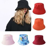 Cotton Unisex Adults Bucket Hat Summer Fishing Fisher Beach Festival Sun Cap TL