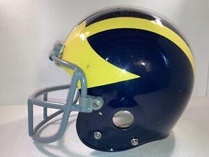 Vintage 80's Michigan Wolverines Game Used Football Helmet Riddell PAC-3 Large