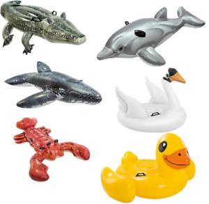 Intex XXL Schwimmtiere zur Auswahl Aufblasbar Badespaß Wassertiere Pool Party