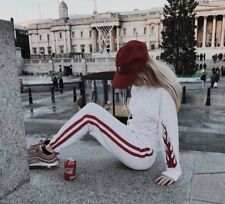 New! Brandy Melville soft white/red/white striped rosa sweatpants NWT S