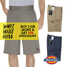"DICKIES 42283 MEN'S RELAXED-FIT WORK SHORTS 13"" CELL-PHONE POCKETS LOOSE-FIT"