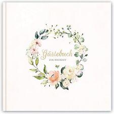 Hochzeitsbuch Gästebuch zur Hochzeit Hochzeitsalbum Hardcover 21x21cm 120 Seiten