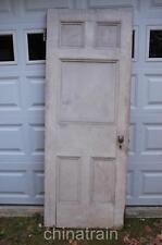 """Antique Vintage 1880s Solid Wood 5 Panel House Door 83.75 x 31.25"""""""