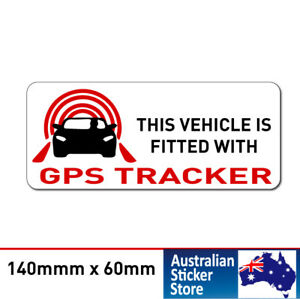 2 x GPS Tracker Fitted Warning Sticker Decal Safety Sign Car