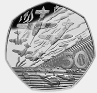 1994 50P COIN RARE D DAY LANDING OLD LARGE STYLE FIFTY PENCE BATTLE OF BRITAIN c