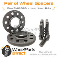 Wheel Spacers (2) & Bolts 15mm for Audi RS4 [B9] 18-20 On Aftermarket Wheels