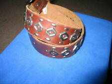 Hollister Men's Leather Belt studded With Automatick  buckle Size Small