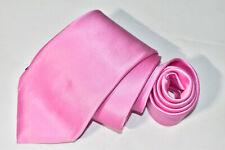 Men's DOLCEPUNTA 7 Fold Pink  100%Silk  Neck Tie made in Italy