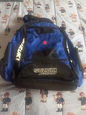 Vintage Motorcycle backpack Suzuki Agv Sport Backpack  Padded