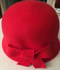 d20563b55a38e Dressed Up by OLD NAVY Girl s RED Felt 100% wool Quality Bucket Hat L-