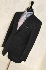 PAUL SMITH MODERN SLIM FIT SUIT IN NAVY WITH BLUE AND RED PINSTRIPE UK 38R EU48