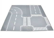 NEW 4pcs set ROAD Base Plate Baseplates Curve Straight Cross Street City Roads