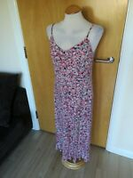 Ladies PER UNA Dress Size 12 Long Tall Pink Stretch Smart Casual Day Party