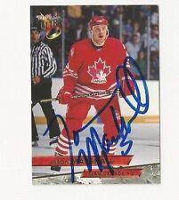 93/94 Ultra Autographed Hockey Card Jason Marshall Team Canada