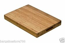 Wooden Chopping Board Butchers Block Wood Thick Bamboo Kitchen Slicing Cutting