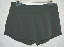 Lululemon Women's Green Running Exercise Shorts w/ Under Briefs Size 6