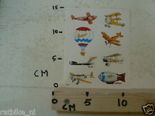 STICKER,DECAL SHEET WITH AIRPLANES VINTAGE AND BALLOONS