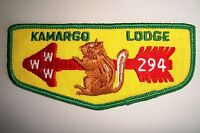 OA KAMARGO LODGE 294 MERGED 34 HERKIMER COUNCIL PATCH CHIPMUNK SERVICE FLAP