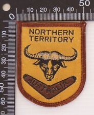 VINTAGE NORTHERN TERRITORY EMBROIDERED SOUVENIR PATCH WOVEN CLOTH SEW-ON BADGE