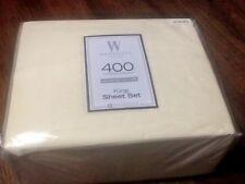 New 4pc Creamy Ivory King 400 Thread Count 100% Cotton Sateen Wamsutta Sheet Set