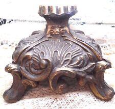 1 VTG  Lavish Ornate Fancy MCM Victorian Cast Metal lamp light BOTTOM BASE Stand