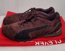Puma mens brown suede leather lace tie sneakers tennis shoes size 11.5