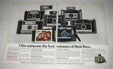 1970 Polaroid Camera Ad - Colorpack II 320 330 340 350