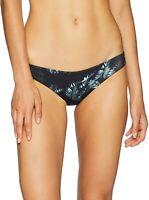 RVCA Women's 240816 Dark Palm Cheeky Black Bikini Bottoms Swimwear Size M