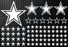 93 Sterne Star Auto Aufkleber Set Sticker Tuning Hibiskus Wandtattoo Tribel xxx1
