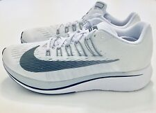 NIB Nike Zoom Fly Men's Running Shoes Size 9 White/ Platinum