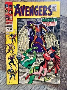 AVENGERS #47 - FN 6.0 - 1967 / 1ST DR. WHITMAN (BLACK KNIGHT) / MAGNETO