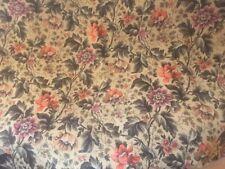 "Vintage 1 Yd Piece Heavy Upholstery Jacquard Fabric Flowers & Foliage 108""W"
