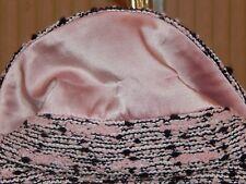 ST. JOHN COLLECTION Size 8 Black Pink Creme Boucle Full Zip Jacket Suit Jacket
