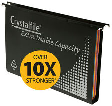 SUSPENSION FILES CRYSTALFILE PP DOUBLE CAPACITY 10'S W/TABS & INSERTS