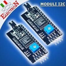 2x MODULO I2C INTERFACCIA SERIALE x LCD 1602 2004 HD 44780 X ARDUINO IIC TWI SP
