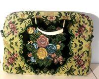 Mellow World Flower Shop Black Floral Fabric Handbag 6 inside pocktes